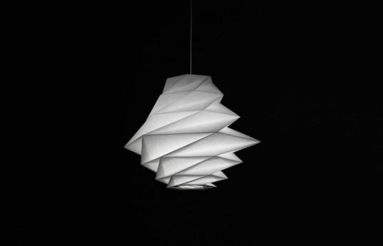 Issey Miyake Designs Sustainable Lighting Sculptures Made