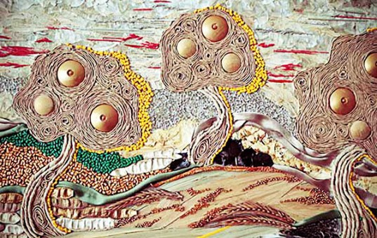 Artist kovaleva anastasia creates van gogh like collages for Art made by waste material