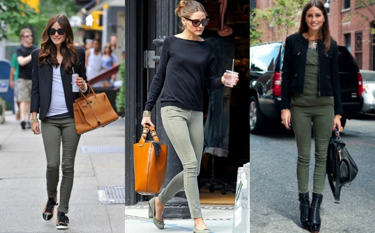 Get The Look Olivia Palermos Olive Pants Orta Blu