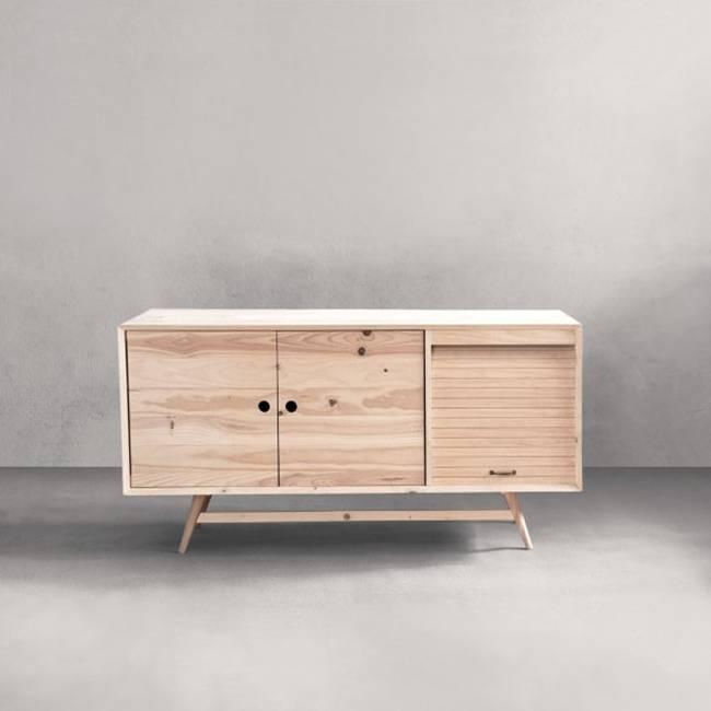 Geometric Retro Modern Sustainable Wood Furniture From Ventura